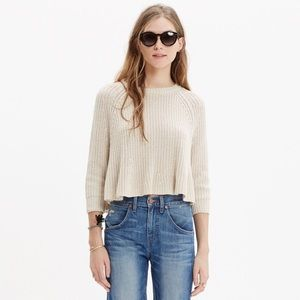 Madewell Swing Crop Sweater